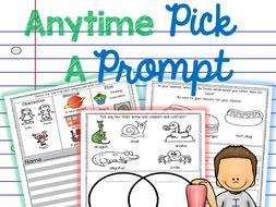 Visual Writing Prompts with Word Supports for ALL students