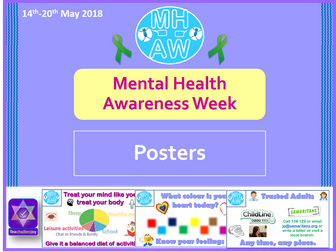 Mental Health Awareness Week 2018 Posters