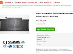 Batterie pour Apple Macbook Pro 2015 13 pouces A1502