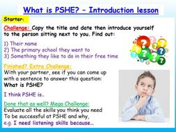Year 7 / 8 PSHE Introduction