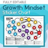 Growth Mindset Sticker Chart