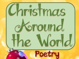 Holidays Around the World - Christmas Around the World Poetry Activity