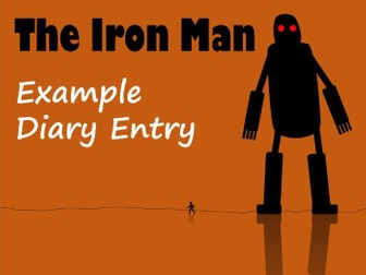 The Iron Man Example Diary Text with Features