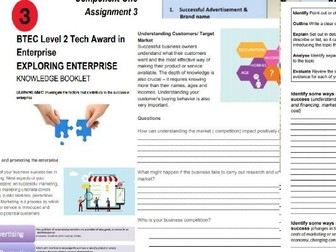 Level 2 Tech Award in Enterprise Component 1 Assignment 3 Exploring Enterprise Workbook