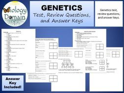 Genetics: Test, Review Questions, and Answer Keys