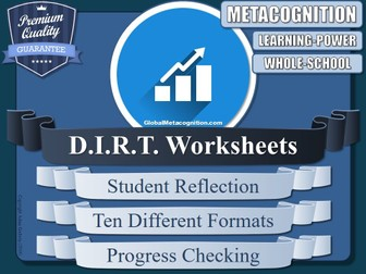 DIRT Worksheet Collection (Metacognition, Metacognitive Strategies) [4/20]