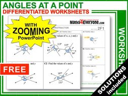 Angles around a Point (Worksheets with Answers)
