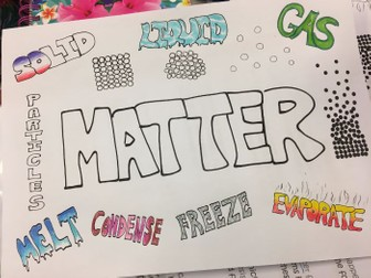 Matter science colouring poster - start of unit/term activity
