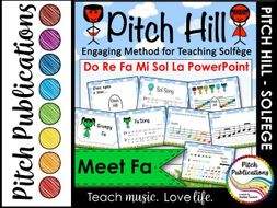 pitch hill introduce fa powerpoint practice do re mi fa sol