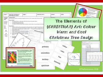 Elements of (Christmas) Art: Colour (Warm and Cool Christmas Tree Design)
