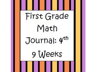 First Grade Math Journal: 4th 9 weeks