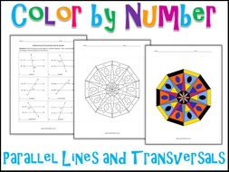 Parallel Lines And Transversals Color By Number By