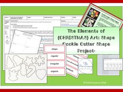 Elements of (Christmas) Art: Shape (Cookie Cutter Shape Project)