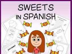 Spanish Sweets Vocabulary Sheets, Worksheets, Matching Game