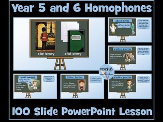 Homophones: Year 5 and 6