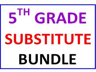 Fifth Grade Substitute BUNDLE (25 Worksheets)