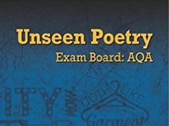 Unseen Poetry - AQA Literature