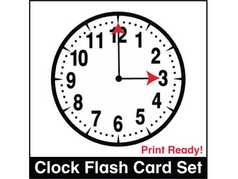 ESL Flash Cards - Clocks