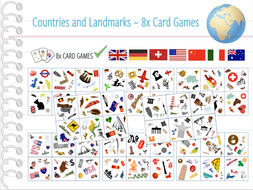 Countries of the World - 8x Card Games