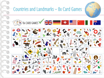 Iconic Landmarks Of The World Card Game By Anjacschmidt - Countries of the world game