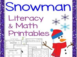Snowman Literacy and Math Printables