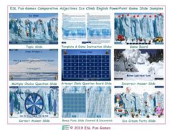 Comparative Adjectives Ice Climb Interactive English PowerPoint Game