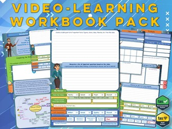 GCSE Sociology : Video-Learning Workbook Pack ( Workbooks x4 )