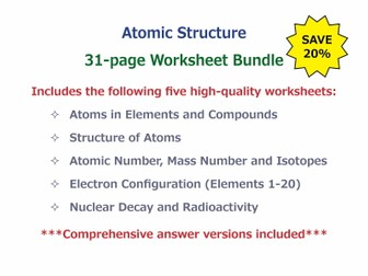 Atomic Structure [Worksheet Bundle] by GoodScienceWorksheets ...