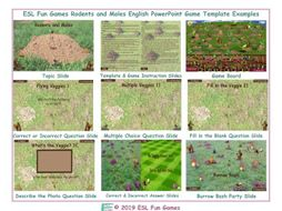 Rodents and Moles English PowerPoint Game Template