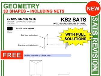 KS2 Maths (3D-Shapes + Nets)