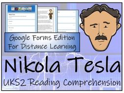 UKS2 Nikola Tesla Reading Comprehension & Distance Learning Activity