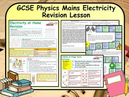 GCSE Physics Mains Electricity Revision Lesson