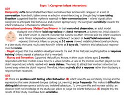 Attachment Revision (AS Psychology)