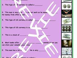 Money and Banking 3 Photo Worksheet Set