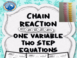 Two Step Equation Chain Reaction