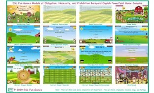 Modals of Obligation, Necessity, and Prohibition Barnyard English PowerPoint Game