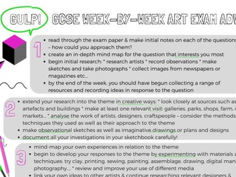 Art & Design exam advice - week by week