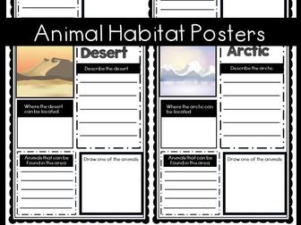 Animal Habitat Posters