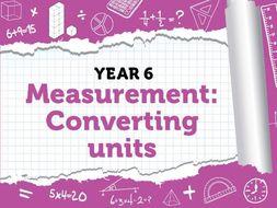 Year 6 - Measurement - Converting Units - Week 7 - Spring - Block 4 - White Rose