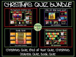 Christmas Quiz / End of Year Quiz Bundle