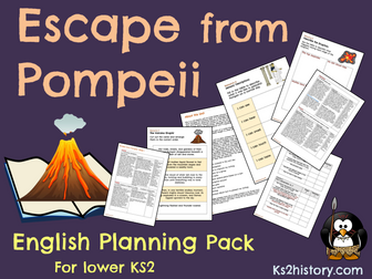 'Escape From Pompeii' Planning (Romans/Volcanoes)