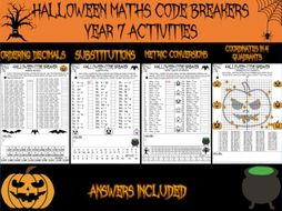 Halloween maths - Year 7 code breakers