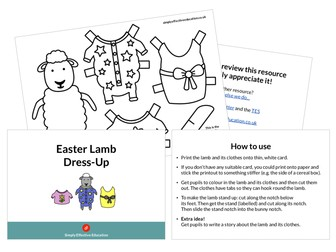 Easter Dress-Up Spring Animals (Lamb and Bunny)