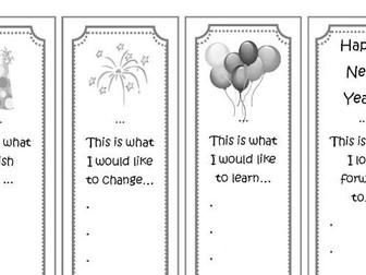 Happy New Year! Bookmarks