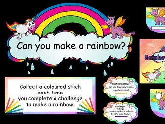 Rainbow Challenge Display for Continuous Provision