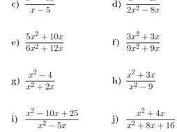 20 GCSE/IGCSE Algebra worksheets (with solutions)