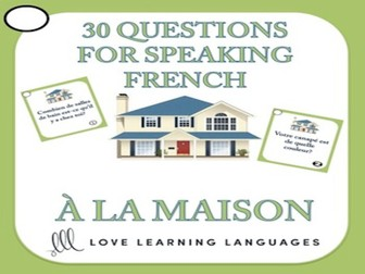 GCSE FRENCH: 30 French Speaking Questions - À la maison