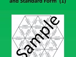 Scientific Notation and Standard Form (1) – Math puzzle