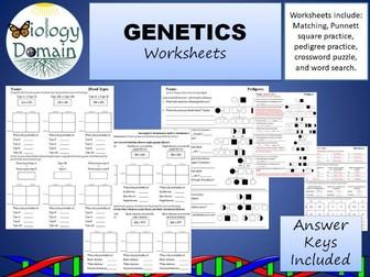 Genetics and Inheritance Worksheets