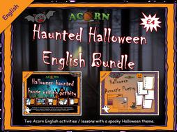 ENGLISH - Acorn Halloween Activities